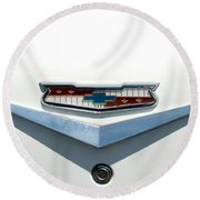 57 Chevy Emblem Round Beach Towel