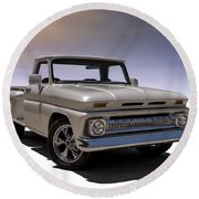 '66 Chevy Pickup Round Beach Towel
