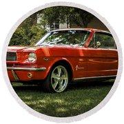 '66 Mustang Round Beach Towel