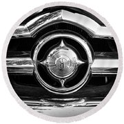 8 In Chrome - Bw Round Beach Towel