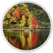 A Breath Of Autumn Round Beach Towel