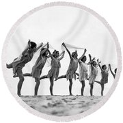 A Dance To The Morning Sun Round Beach Towel