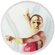 A Flamenco Dancer Round Beach Towel