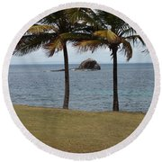 A Good Resting Place Round Beach Towel by Robert Margetts