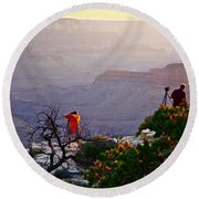 A Grand Meeting Place Round Beach Towel