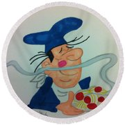 A Great Chef Round Beach Towel