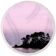 A Moment Of Tranquility Round Beach Towel