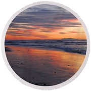 A Passion For Purple Round Beach Towel by Lynn Bauer