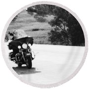 A Peaceful Ride Round Beach Towel