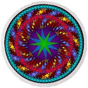 Round Beach Towel featuring the digital art A Riot Of Stars by Mario Carini