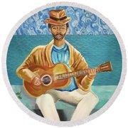 A Sad Song Round Beach Towel by John Keaton