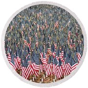 A Thousand Flags Round Beach Towel