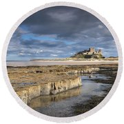 A View Of Bamburgh Castle Bamburgh Round Beach Towel