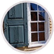 A Window Into The Past Wipp Round Beach Towel