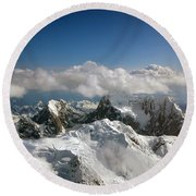 Round Beach Towel featuring the photograph Above Mckinley by Kay Lovingood