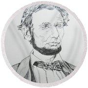 Abraham Lincoln Round Beach Towel by John Keaton