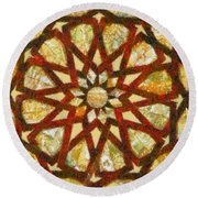 Abstract Art Round Beach Towel