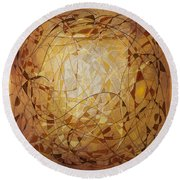 Abstract Art Eleven Round Beach Towel