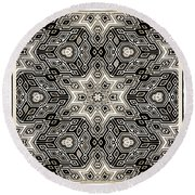 Round Beach Towel featuring the digital art Abstract Cubes by Susan Leggett