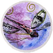Abstract Dragonfly 6 Round Beach Towel