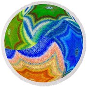 Round Beach Towel featuring the digital art Abstract Fusion 155 by Will Borden