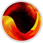 Abstract Fusion 40 Round Beach Towel