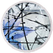 Abstract Impressionist Round Beach Towel