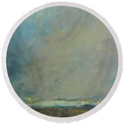 Abstract Landscape - Horizon Round Beach Towel
