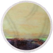 Abstract Landscape - Rose Hills Round Beach Towel
