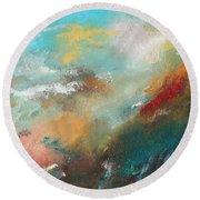 Abstract No 1 Round Beach Towel