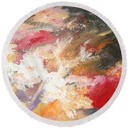Abstract No 2 Round Beach Towel
