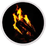 Abstract Phoenix Fire Round Beach Towel