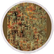 Artistic Confusion Round Beach Towel