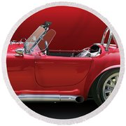 Ac Cobra Detail Round Beach Towel
