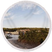 Access To The Beach Of Es Trenc Round Beach Towel