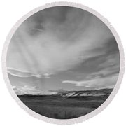 Round Beach Towel featuring the photograph Across The Valley by Kathleen Grace
