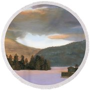 Adirondack Morning Round Beach Towel