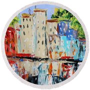 After Hours-reflection Round Beach Towel by John Williams