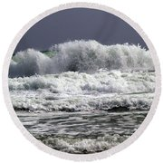 Aftermath Of A Storm Iv Round Beach Towel by Patricia Griffin Brett