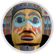 Alaska Totem Round Beach Towel