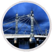 Albert Bridge London Round Beach Towel