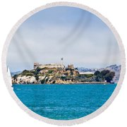 Alcatraz - San Francisco Round Beach Towel