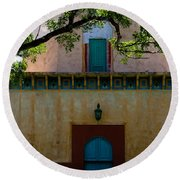 Alhambra Water Tower Doors Round Beach Towel
