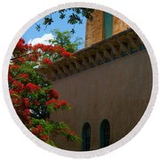 Alhambra Water Tower Windows And Door Round Beach Towel