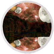 Round Beach Towel featuring the photograph Alien World by Sarah McKoy