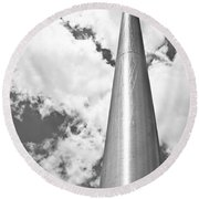Round Beach Towel featuring the photograph All About Perspective by Janie Johnson