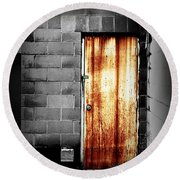 Alley Door 2 Round Beach Towel