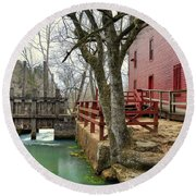 Round Beach Towel featuring the photograph Alley Spring Mill 34 by Marty Koch