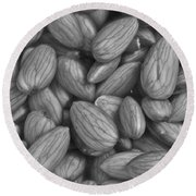 Almonds In H2o Round Beach Towel by Henri Irizarri