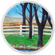 Along The Lane Round Beach Towel